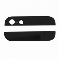 Vitre arrière haut et bas noir pour iPhone 5