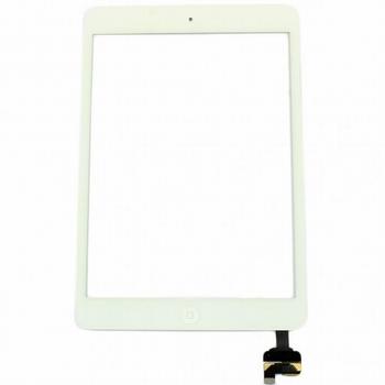Vitre tactile complète blanc + bouton home pour ipad mini/2