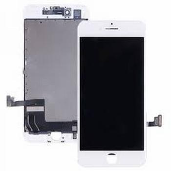 Vitre tactile blanc avec écran LCD pour iPhone 8