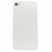 Vitre Arrière sur chassis Blanc sans logo pour iPhone 4