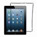 Cadre Joint Contour Ecran Vitre Tactile pour iPad 2 Noir
