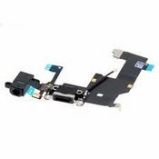 Nappe Dock charge et jack noir et micro bas pour iPhone 5s